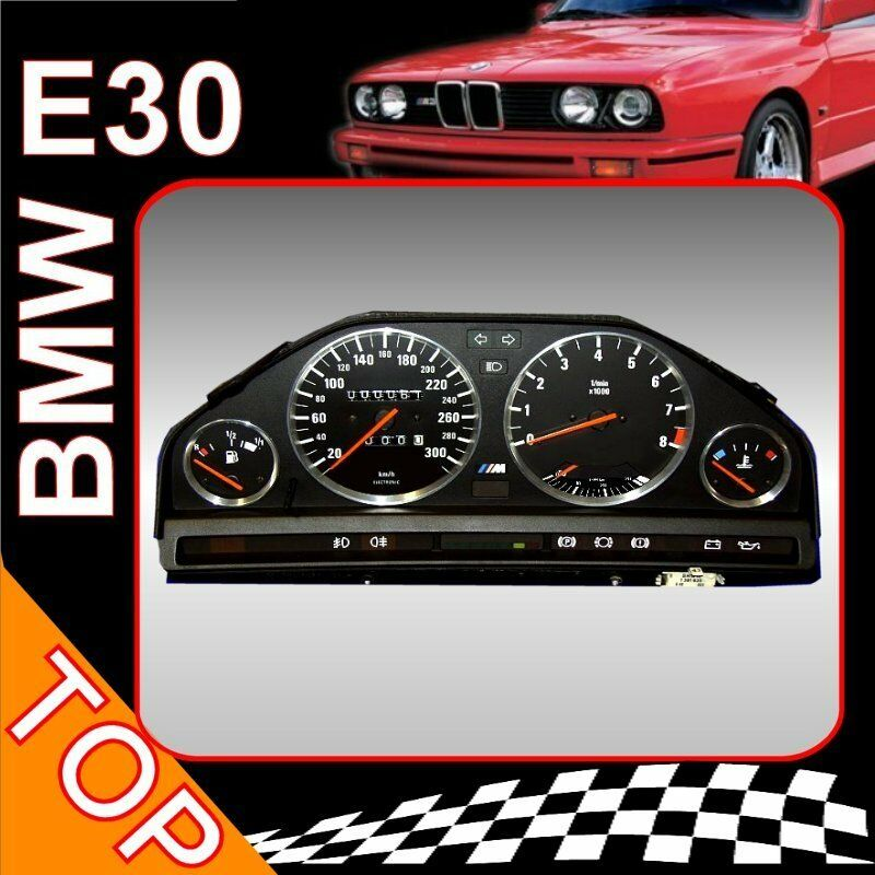 bmw e30 tacho 300km 8000umin 4 und 6 zylinder ebay. Black Bedroom Furniture Sets. Home Design Ideas