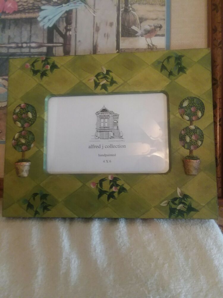 alfred j collection handpainted picture frame Flowerpots Holds 4 x 6 ...