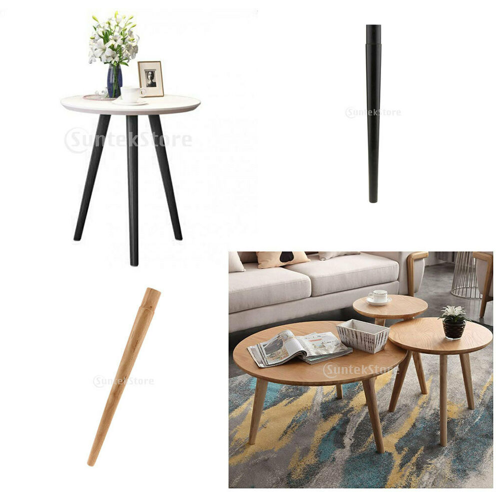Black Raw Tapered Wooden Table Legs Sofa Couch Chair Furniture Desk