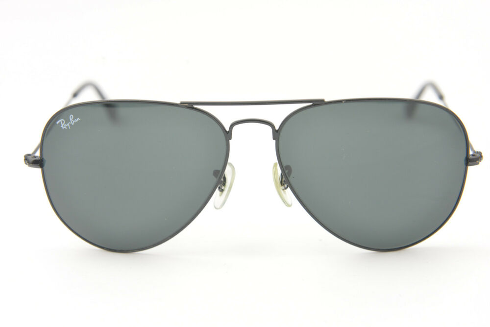 Ray-Ban RB3026 AVIATOR LARGE METAL 002 62 62-14 3N sunglasses Black G-15  green   eBay dd57d0fed8