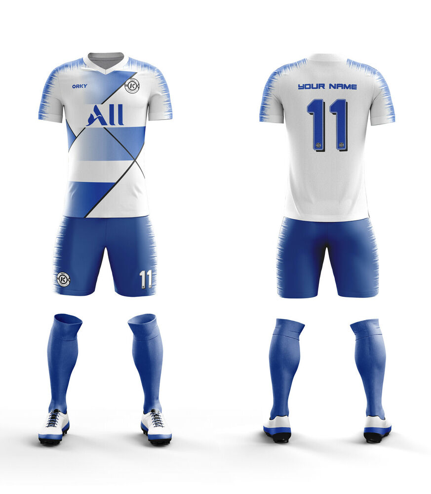 5b5db17d3 Details about ORKY 5 Custom Team Wear Customized Football Club Soccer  Uniform Men Youth Kit G
