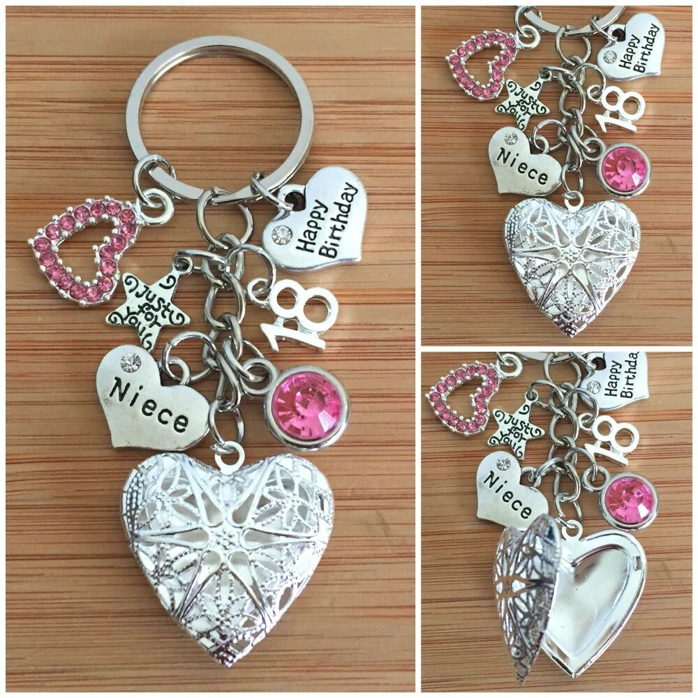 Details About Personalised HAPPY BIRTHDAY Gifts Charm Keyring 13th 18th 21st 30th Gift For Her