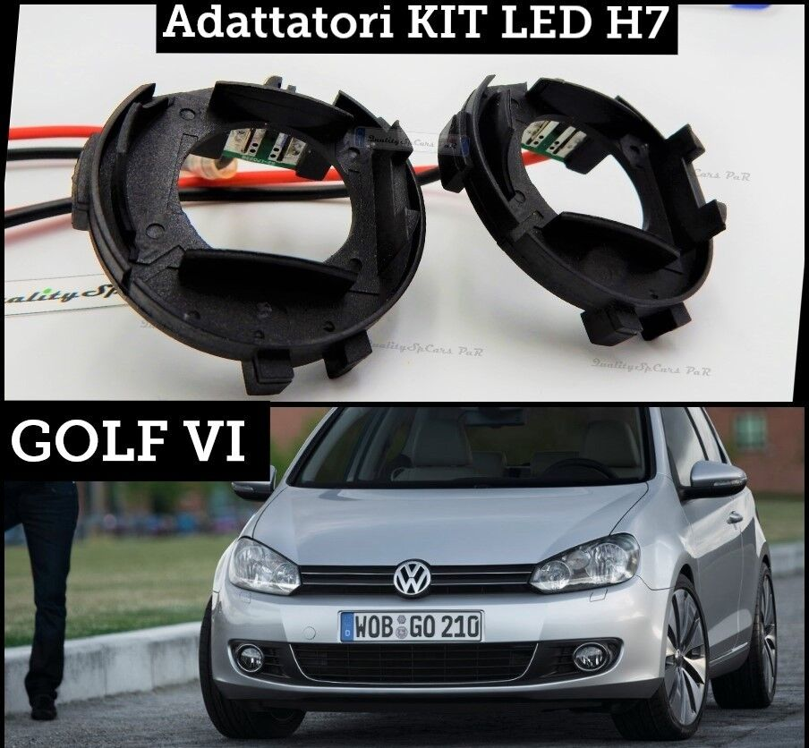 x2 adattatori porta lampade bloccaggio led h7 volkswagen. Black Bedroom Furniture Sets. Home Design Ideas