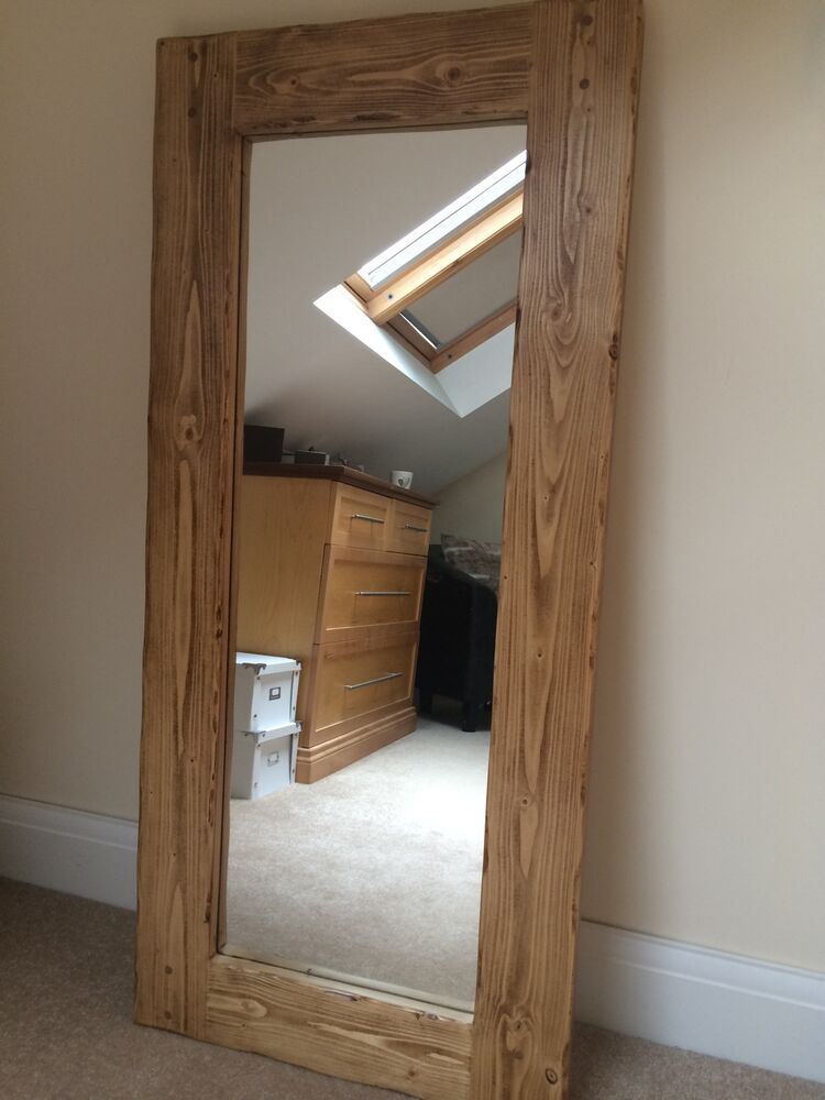 Wooden full length mirror