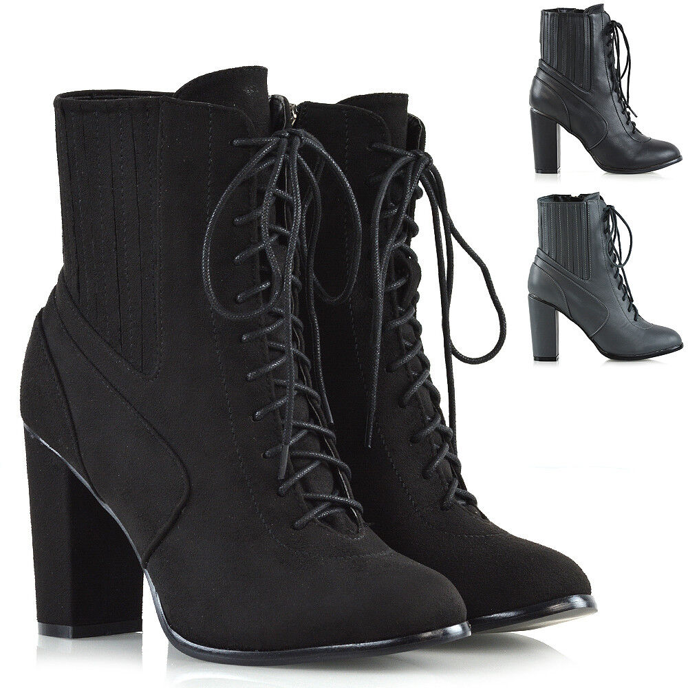 Ankle Boots With Heels And Laces