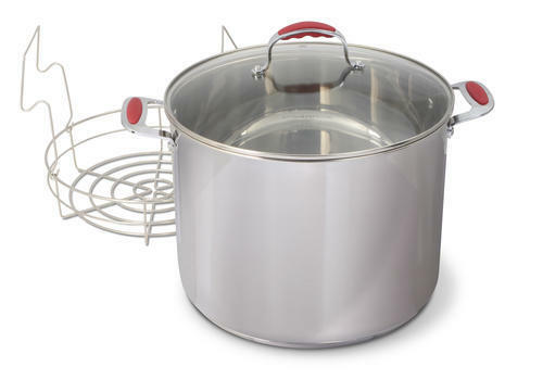 New Heavy Stainless Steel 21 Quart Qt Water Bath Canner W