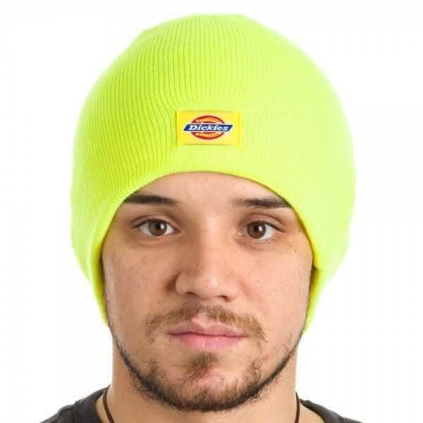 Details about Dickies Safety Yellow Beanie Hat Basic Knit Bright Color -  NWT - BE SEEN ea2d4b4900f