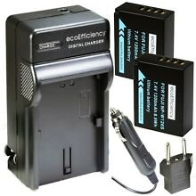 ecoEfficiency 2-Pack of NP-W126S Batteries and Charger for Select Fujifilm...