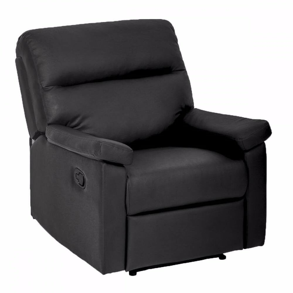 Details about single recliner chair sofa furniture modern leather chaise couch home theater