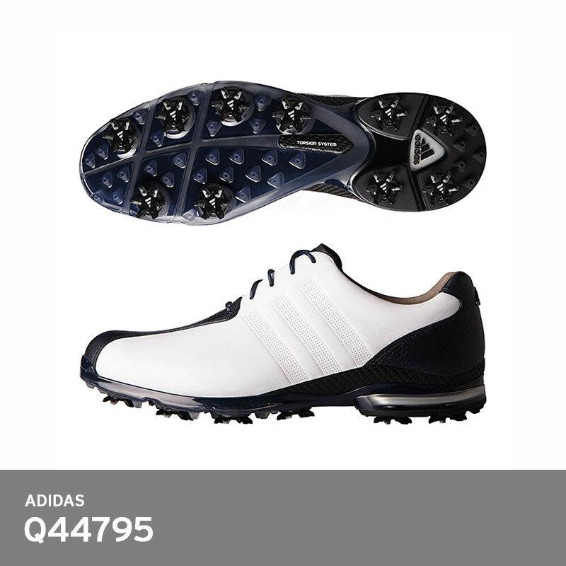 save off c68bb 7c6a4 Details about Adidas 2017 Men Golf Shoes AdiPure TP Leather Q44795  10-Spikes FedEx White+Black