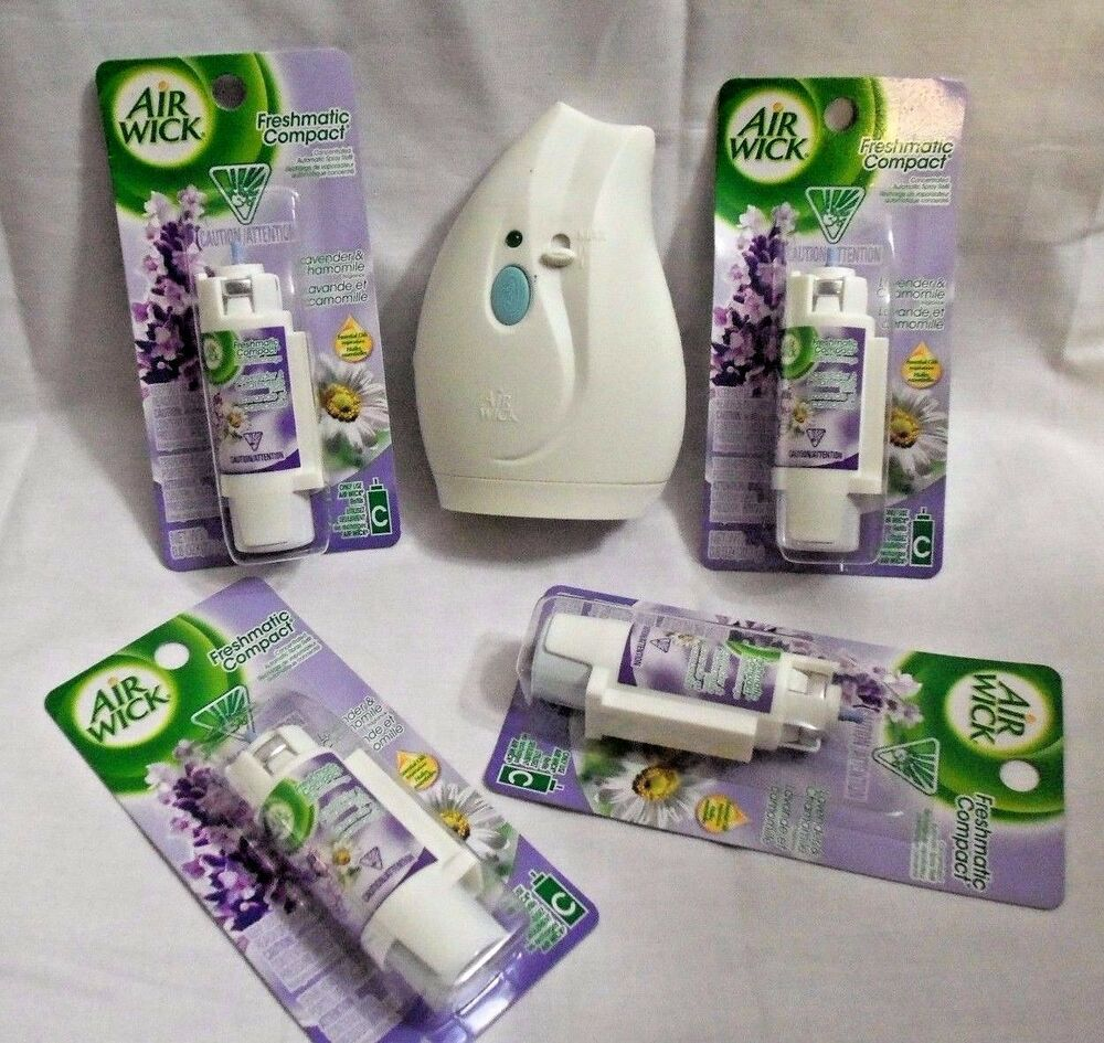 Air Wick Freshmatic Compact Automatic Spray Plus 4 Refills Lavender