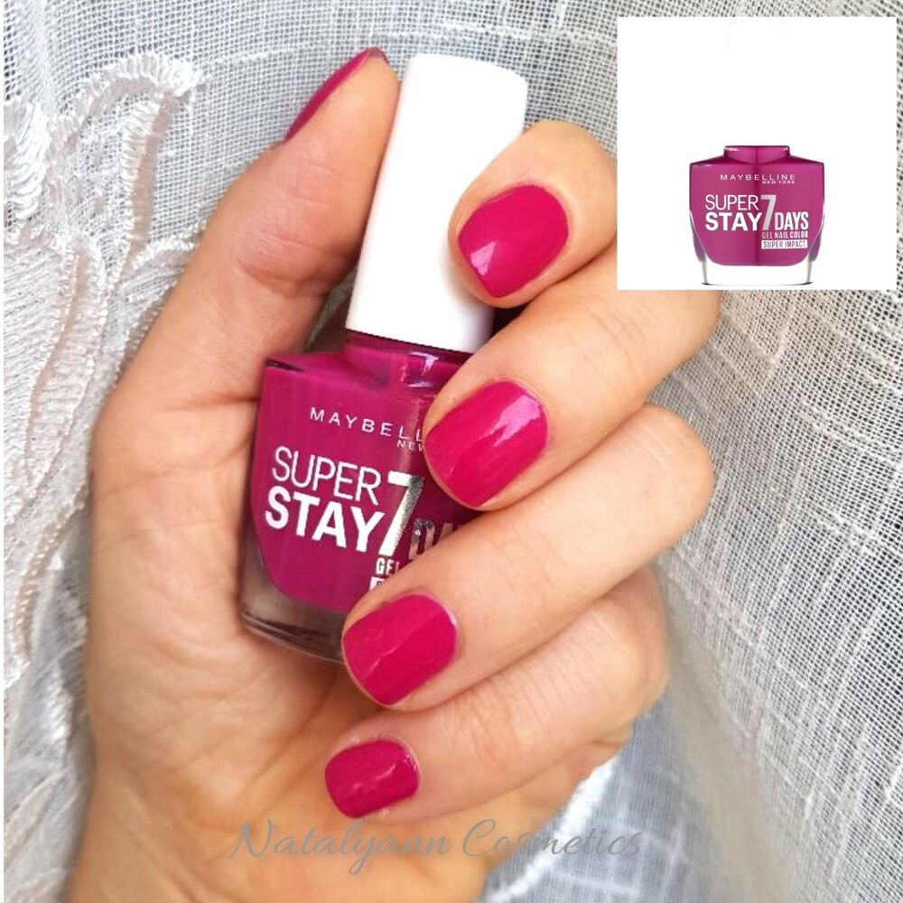 MAYBELLINE Forever Strong Superstay 7 Day GEL NAIL 886 24/7 Fuchsia ...