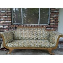 Duncan Phyfe Sofa tapestry couch sofa antique vintage old victorian