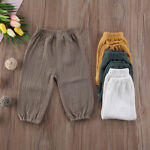 Hot Kids Baby Boys Girls Wrinkled Cotton Vintage Bloomers Bottoms Pants Trousers