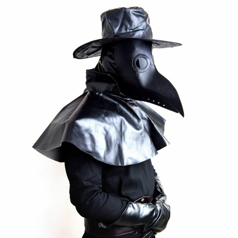 Plague Doctor Bird Beak Mask Steampunk Gothic Halloween Costume