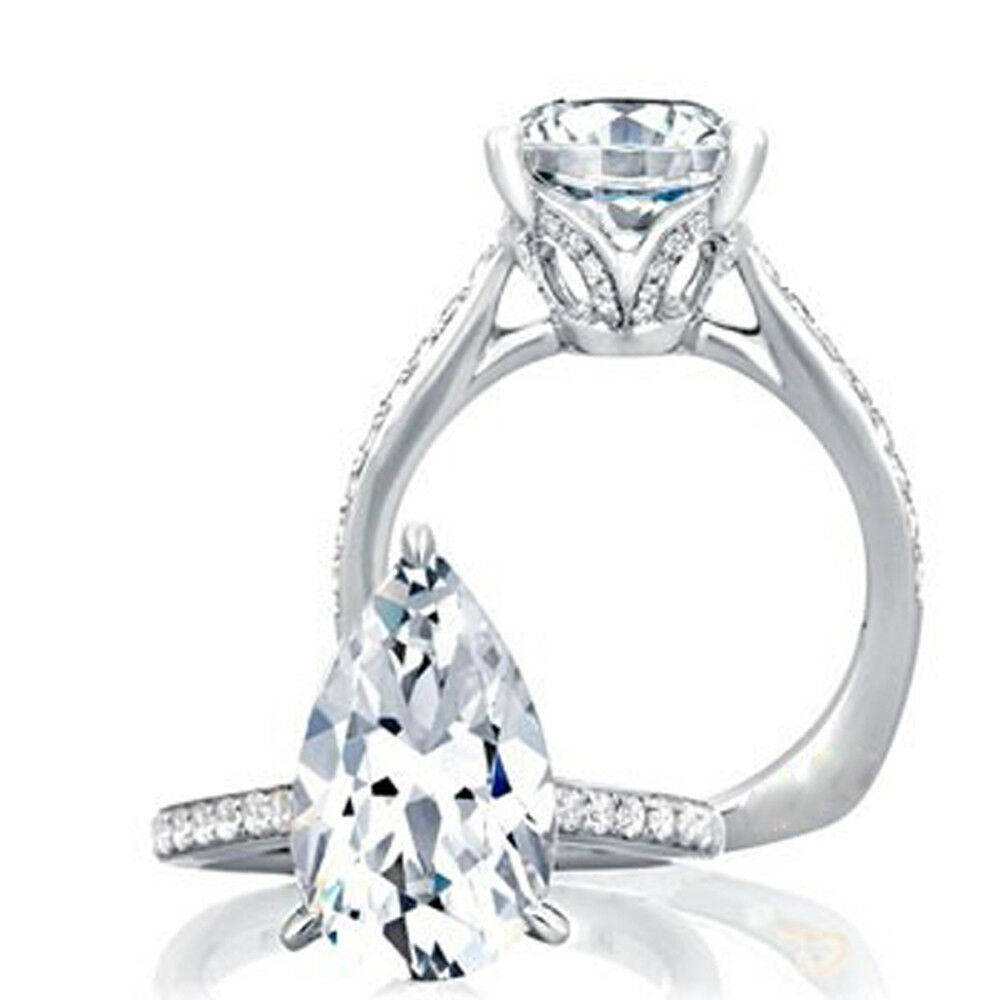 bdb2f2ea46326e Details about BEST SELLER 1.75 CTW GIA Certified Pear Shape Diamond  Engagement Ring 18K