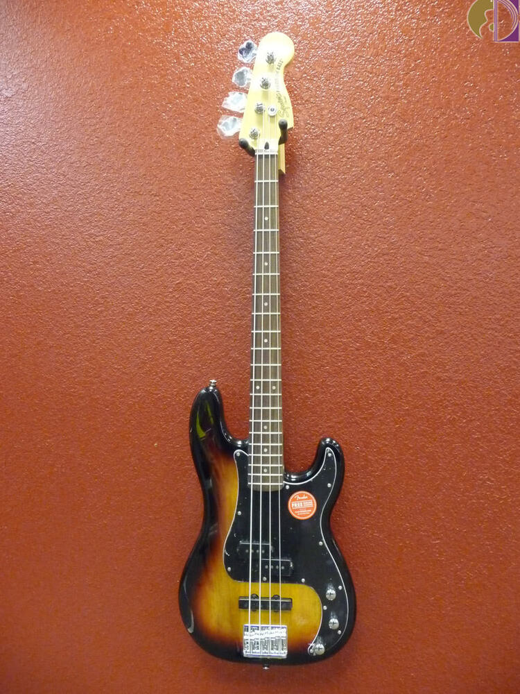 squier vintage modified precision bass pj 3 tone sunburst free shipping lowerus 885978322664 ebay. Black Bedroom Furniture Sets. Home Design Ideas