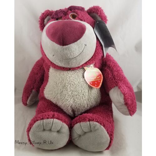 new-genuine-disney-store-toy-story-3-lotso-bear-15-plush-doll-strawberry-scent