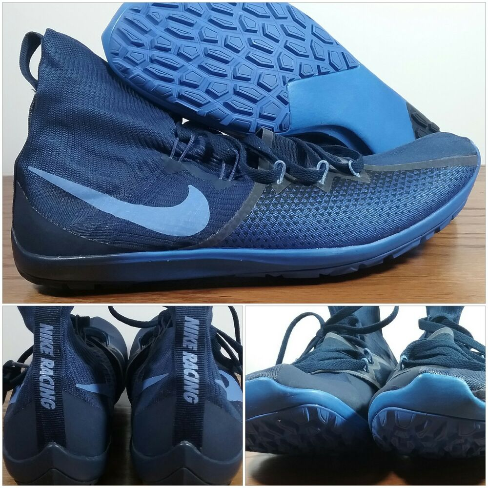 Nike Running Zoom Victory Waffle 4 Track Shoes Men's Size 10 Blue 878804-404 NEW