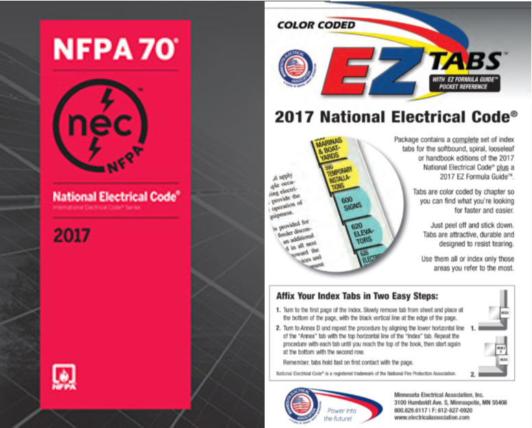 National Electrical Code (NEC) Softbound with Color Coded EZ Tabs ...