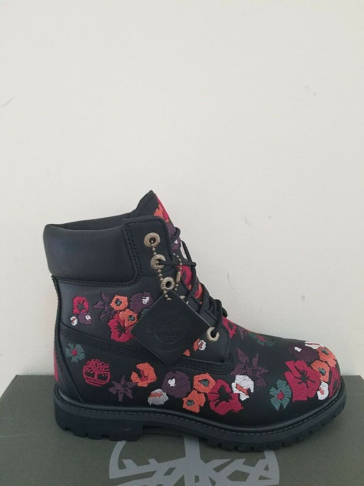 Timberland Women s 6-Inch Premium Embroidered Waterproof Boots NIB   eBay e277ead2496