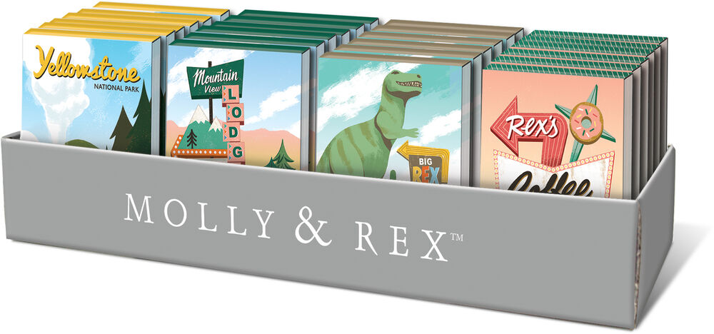 Punch Studio E8 Molly & Rex Pocket Note Pad 3x4in
