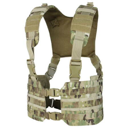 img-CONDOR RONIN CHEST RIG ARMY VEST TACTICAL CARRIER AIRSOFT MOLLE WEBBING MULTICAM