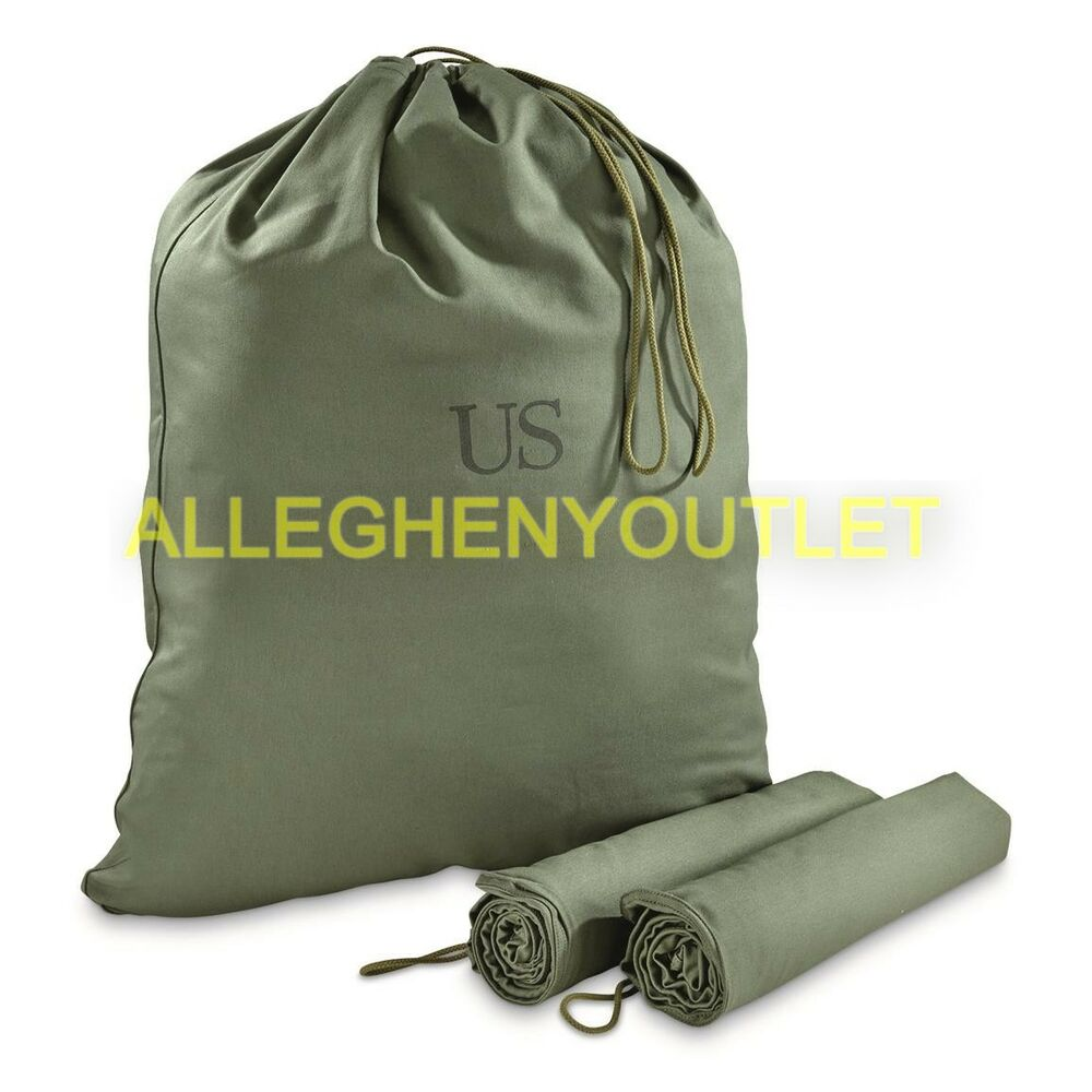 Lot Of 5 Us Army Military Barrack Bag Cotton Laundry Duffle Tote Storage Vgc Ebay
