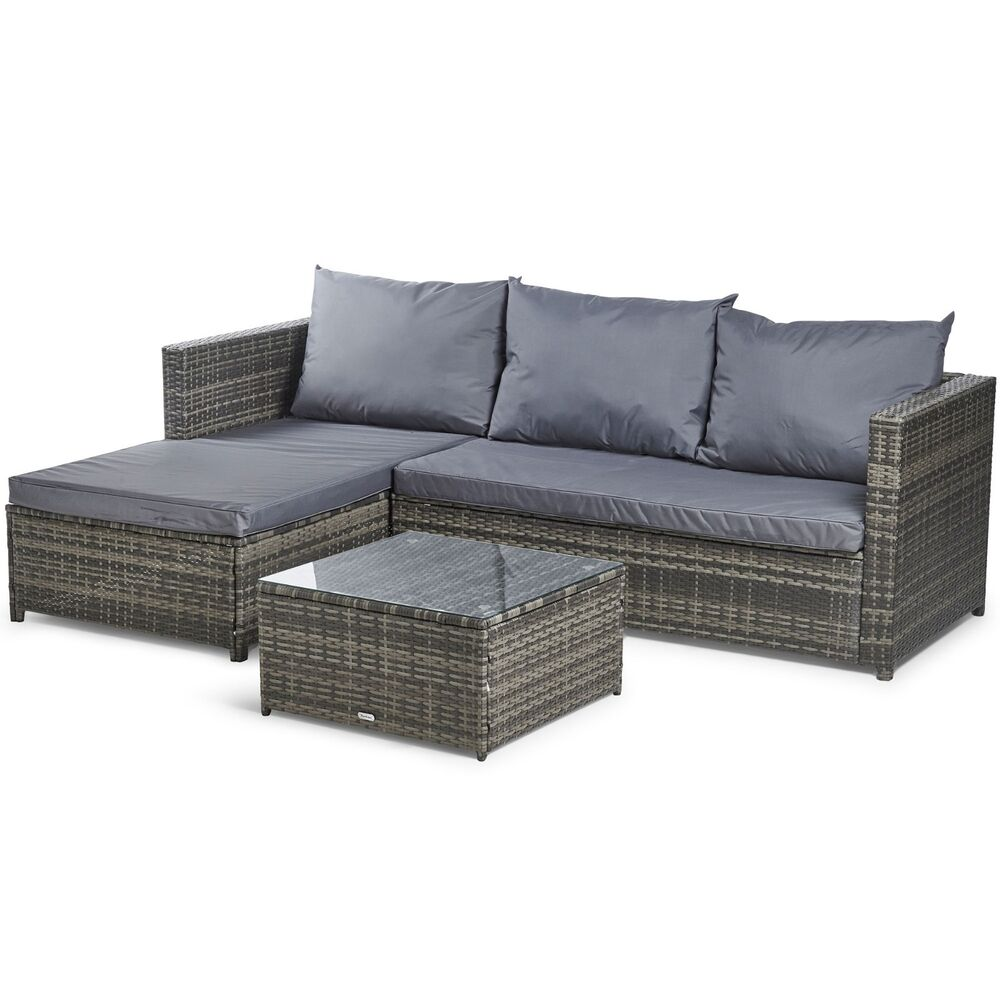 vonhaus rattan corner sofa set large conservatory garden patio set 5056115707537 ebay. Black Bedroom Furniture Sets. Home Design Ideas