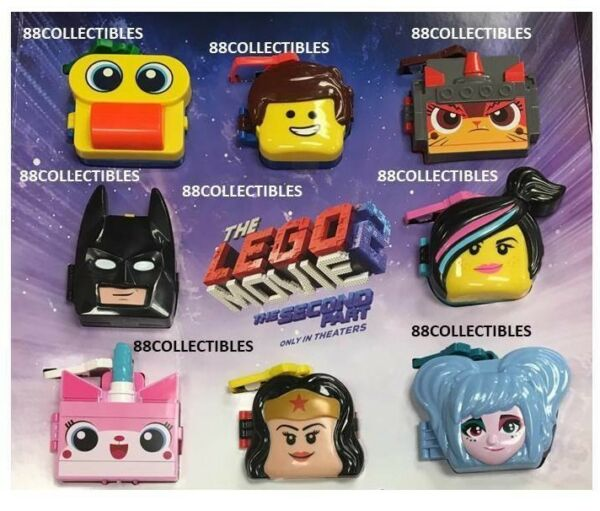 MCDONALD'S 2019 THE LEGO MOVIE 2 - COMPLETE SET - FREE PRIORITY SHIPPING