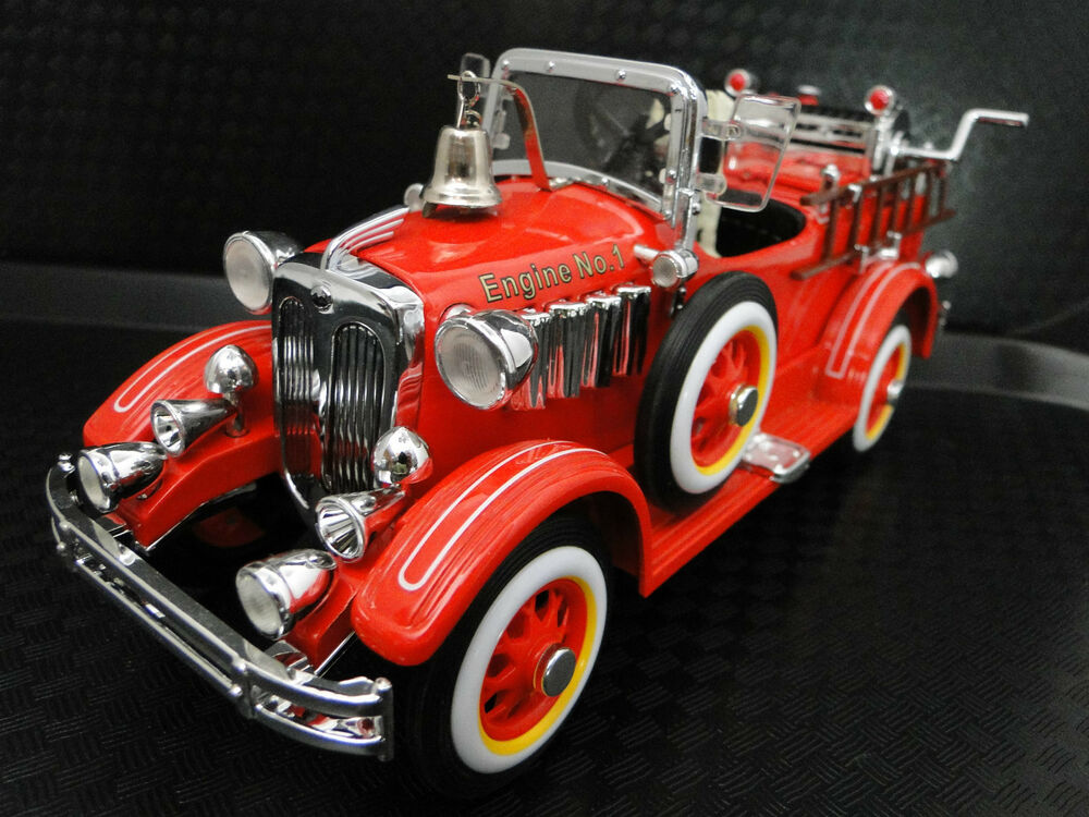 Fire Truck Pedal Car: Pedal Car Cadillac Truck Fire Engine Red Vintage Metal NOT