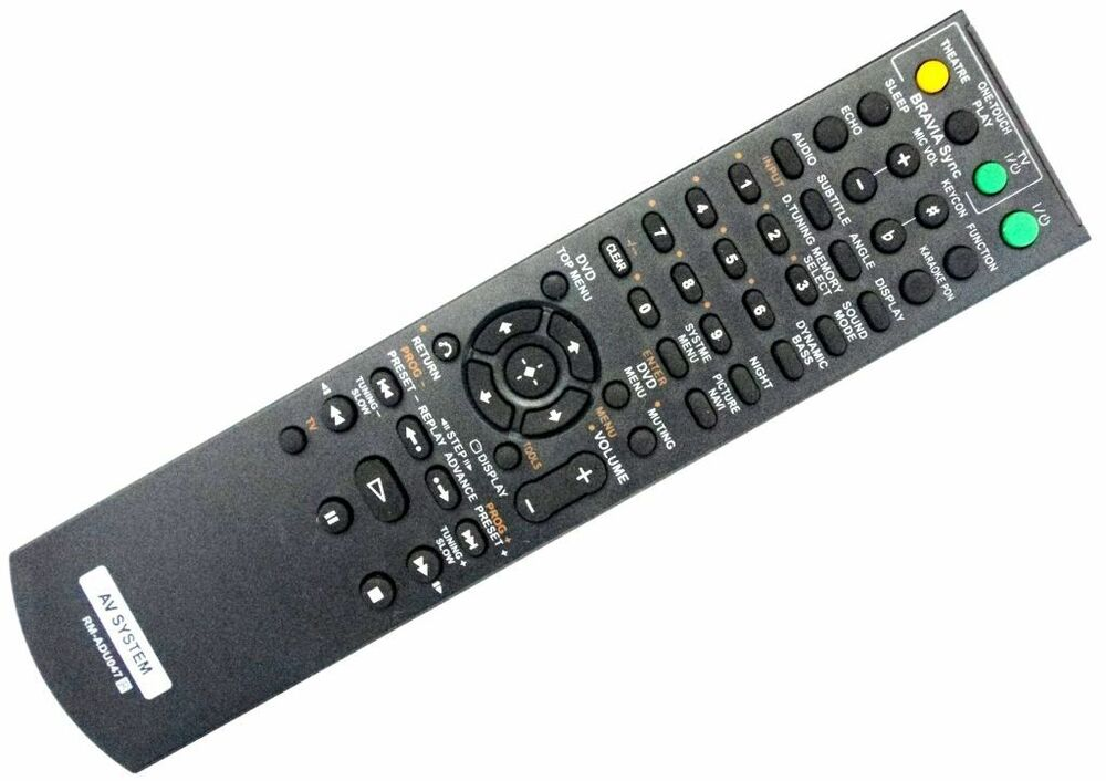 NEW Remote Control Replacement for Sony RM-ADU047 AV DVD Home ...