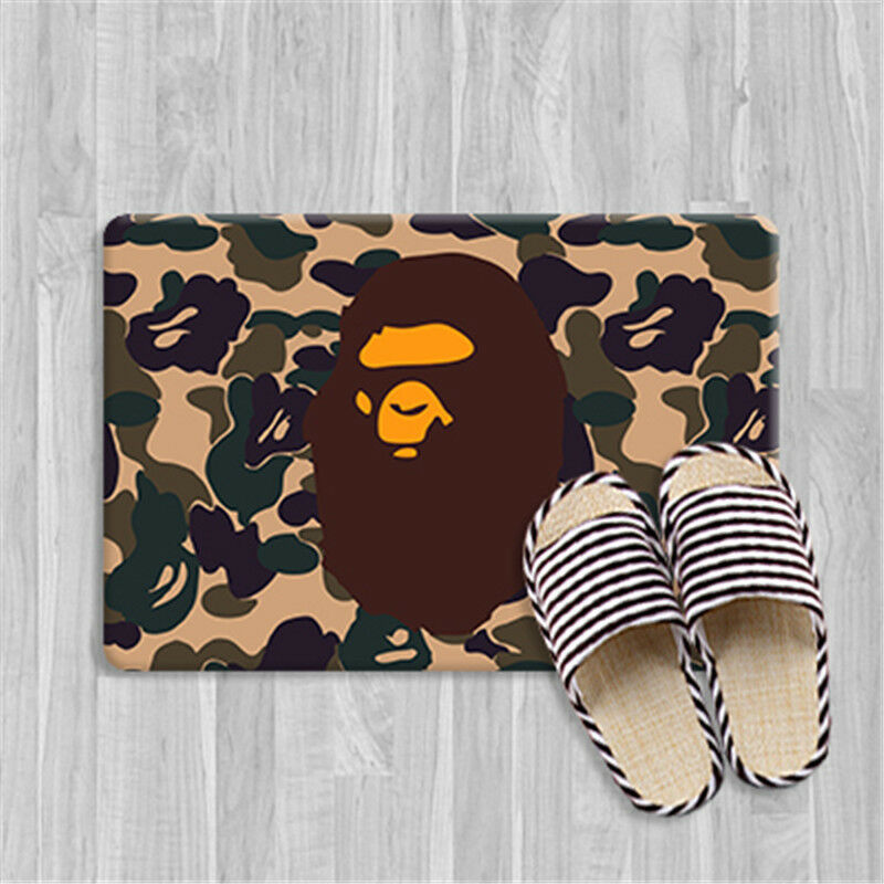 Camo Bathroom Rugs: Home BAPE A BATHING APE Camo Floor Mats Rug Bathroom Non
