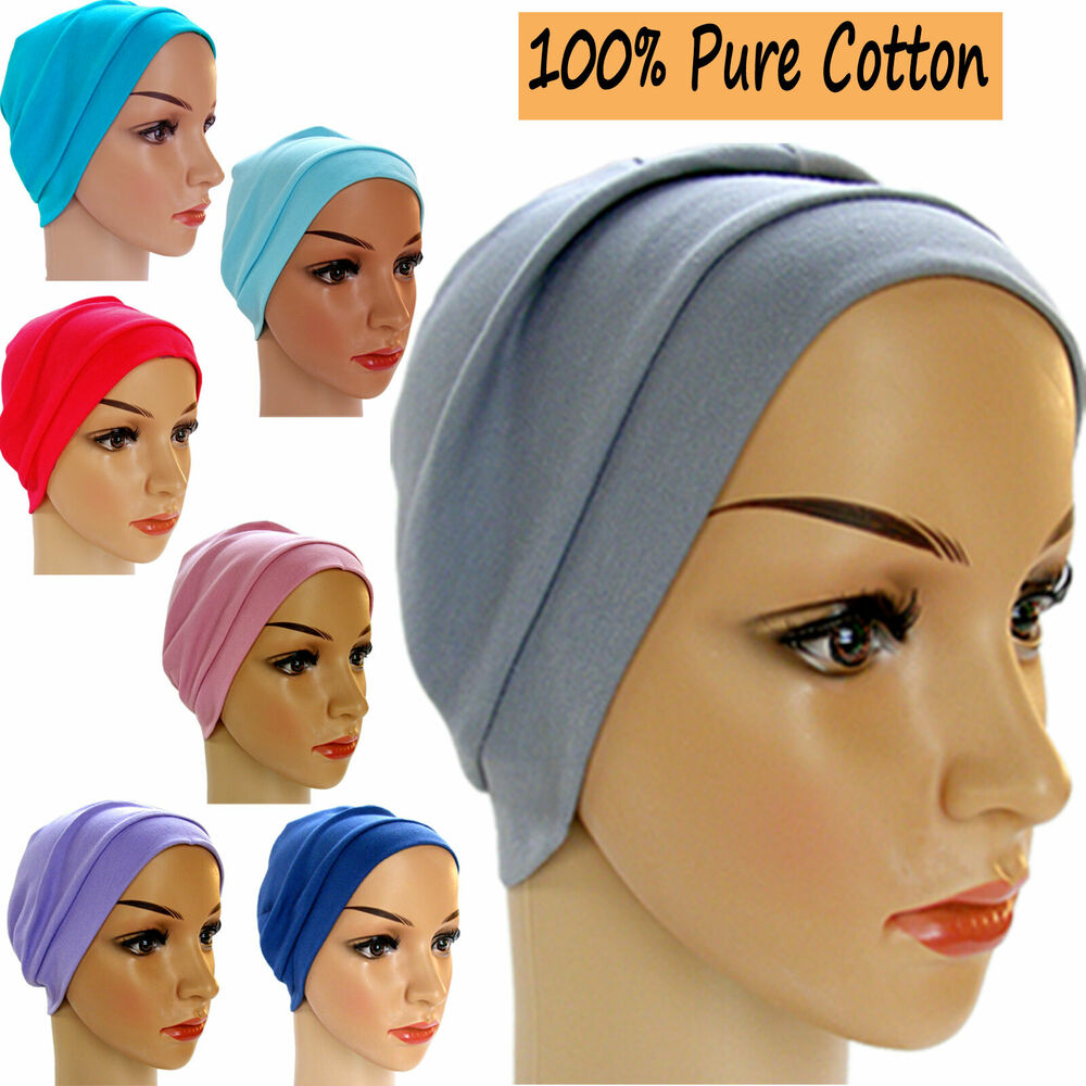 652a8720b2c Details about HEADWEAR FOR HAIR LOSS.CHEMO. LOUNGE DAY NIGHT SLEEP CAP HAT  100% COTTON JERSEY