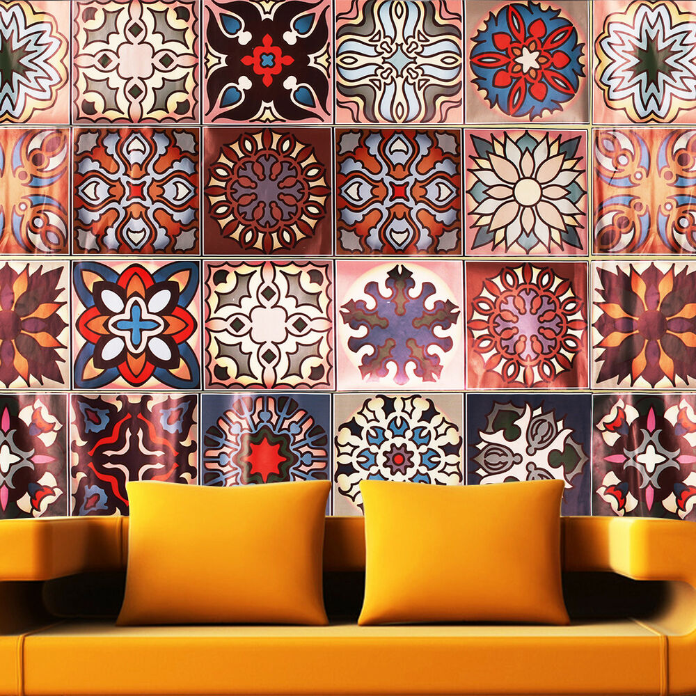 wall tile stickers kitchen moroccan style self adhesive floor wall tile sticker decal 6961