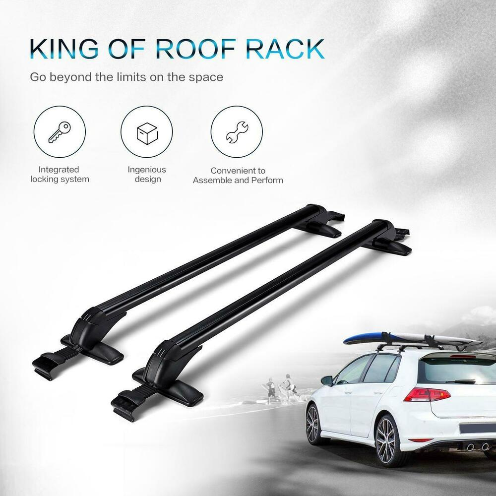 Prius Roof Rack >> Roof Rack Cross Bar Smooth Side Rail Luggage Carrier For Toyota