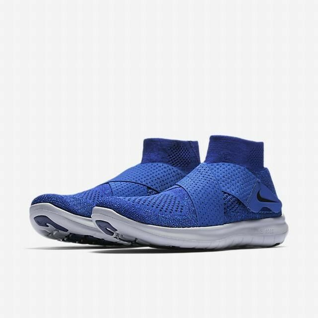 separation shoes 7ccd1 0a5d9 Details about Nike Free RN Motion Flyknit 2017 BlueGrey 880845-401 Mens  Running Shoes