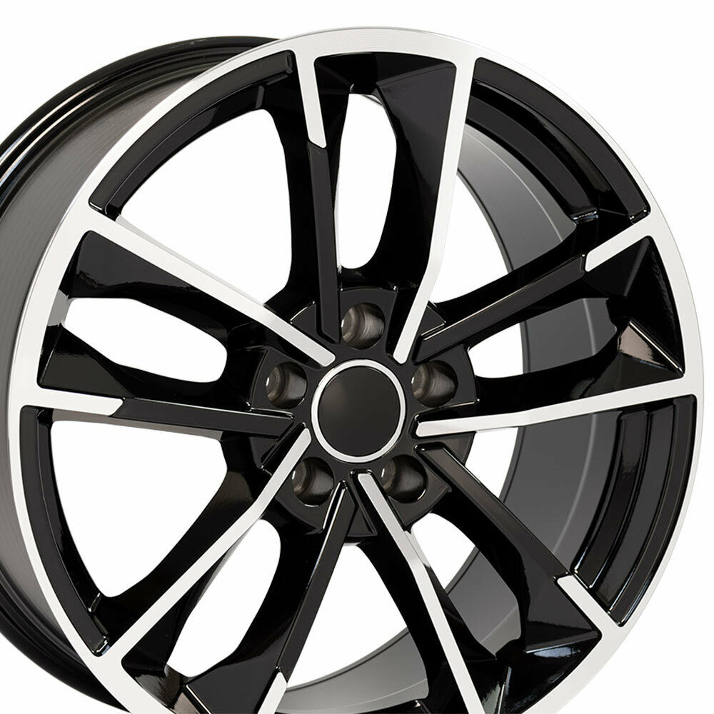 """Is The Bmw 7 Series True Main Rival The Audi A8: 18"""" Rim Fits Audi A3 A4 A5 A6 A8 TT VW CC Beetle RS7 AU31 Black 18x8 Wheel 812165033126"""