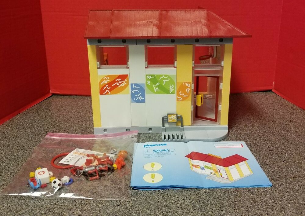 Playmobil 4325 School Gym Attachment City Life Students And Coach