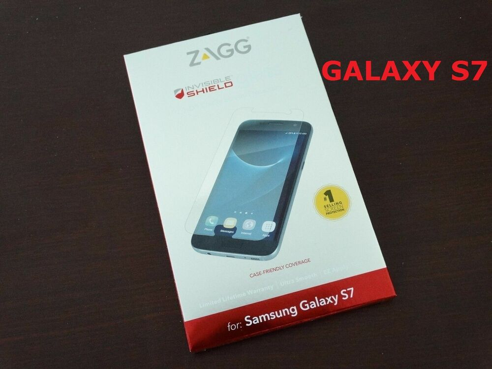 huge selection of 84184 2d4d3 Zagg For Samsung Galaxy S7 HD Tempered Glass Clarity Screen Cover Protector  NEW   eBay