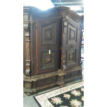 Original finish 17th or 18th Century Shrank Armoire kas cabinet must see