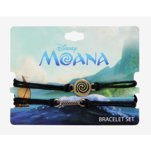 new-disney-moana-wayfinder-black-cord-bracelet-set-2-pack