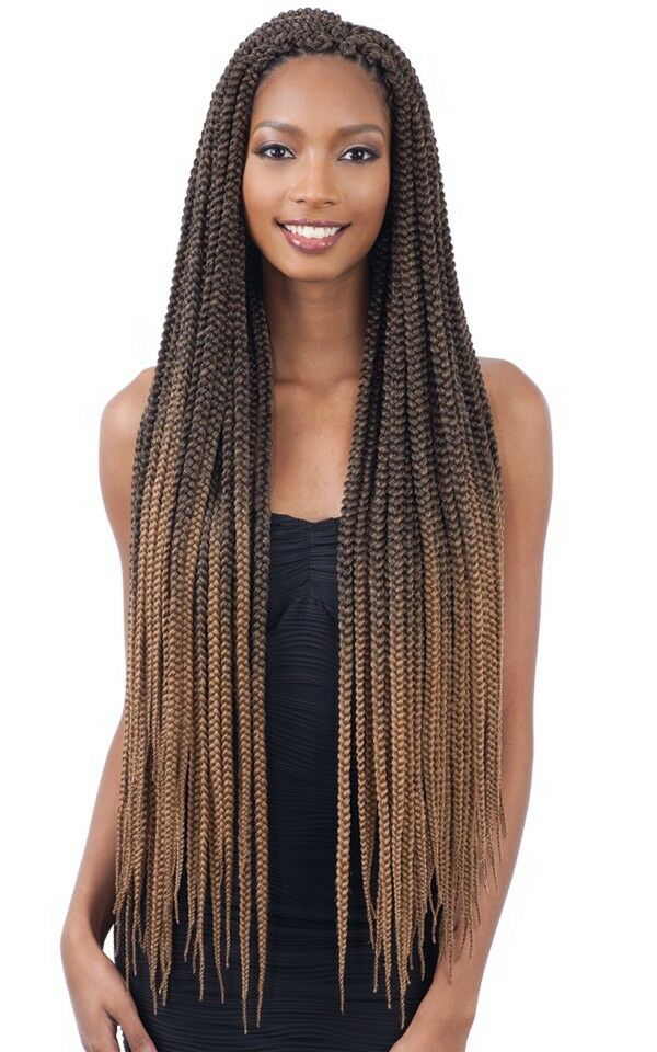 2x Large Box Braids 30 Quot Freetress Synthetic Crochet Pre