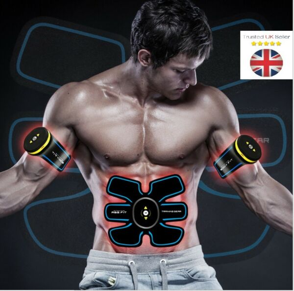 Rechargeable ABS Stimulator EMS Abdominal Muscle Fitness Belt