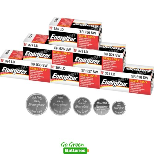 Energizer 1.5V Silver Oxide Watch Batteries Full Range of Sizes Available
