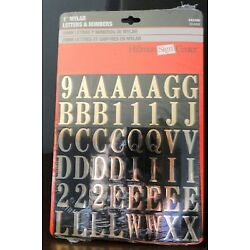 1'' 112  Mylar Gold Letters & Numbers-Unlimited Uses