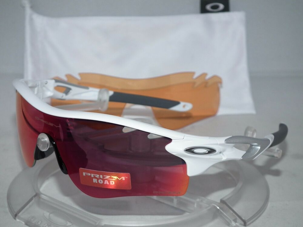 0c9644d050a Details about OAKLEY Radarlock Path OO9181-40 Polished White   Prizm Road    Persimmon Lenses