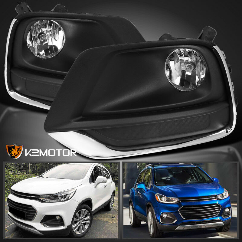 2017-2019 Chevy Trax Clear Driving Bumper Fog Lights Lamps