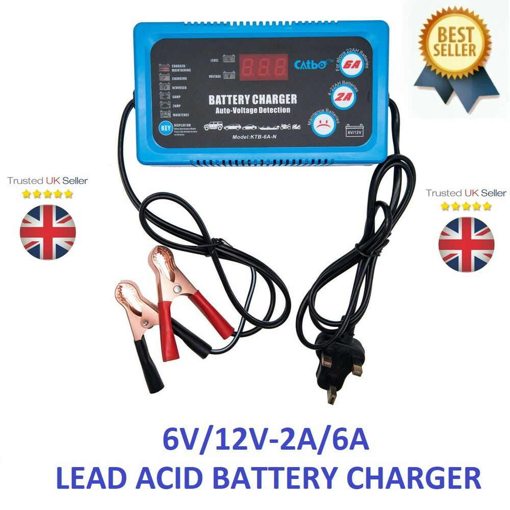 Simply 6v 12v 2a 6a Smart Battery Trickle Automatic Charger Lead Acid By L200 Caravan Motorcycle Ebay