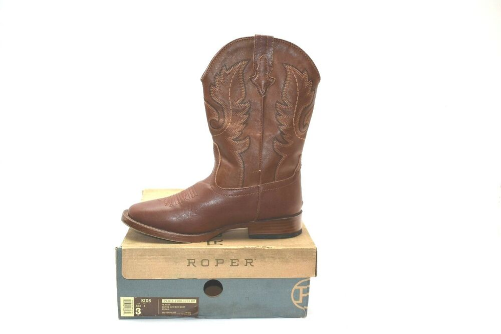 01fcd205563 Roper Texson Square Toe Classic Cowboy Boot (Toddler/Little Kid) 3M ...